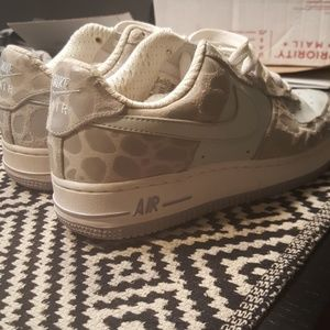 Women's Size 6.5 Nike AF 1 Premium Leopard